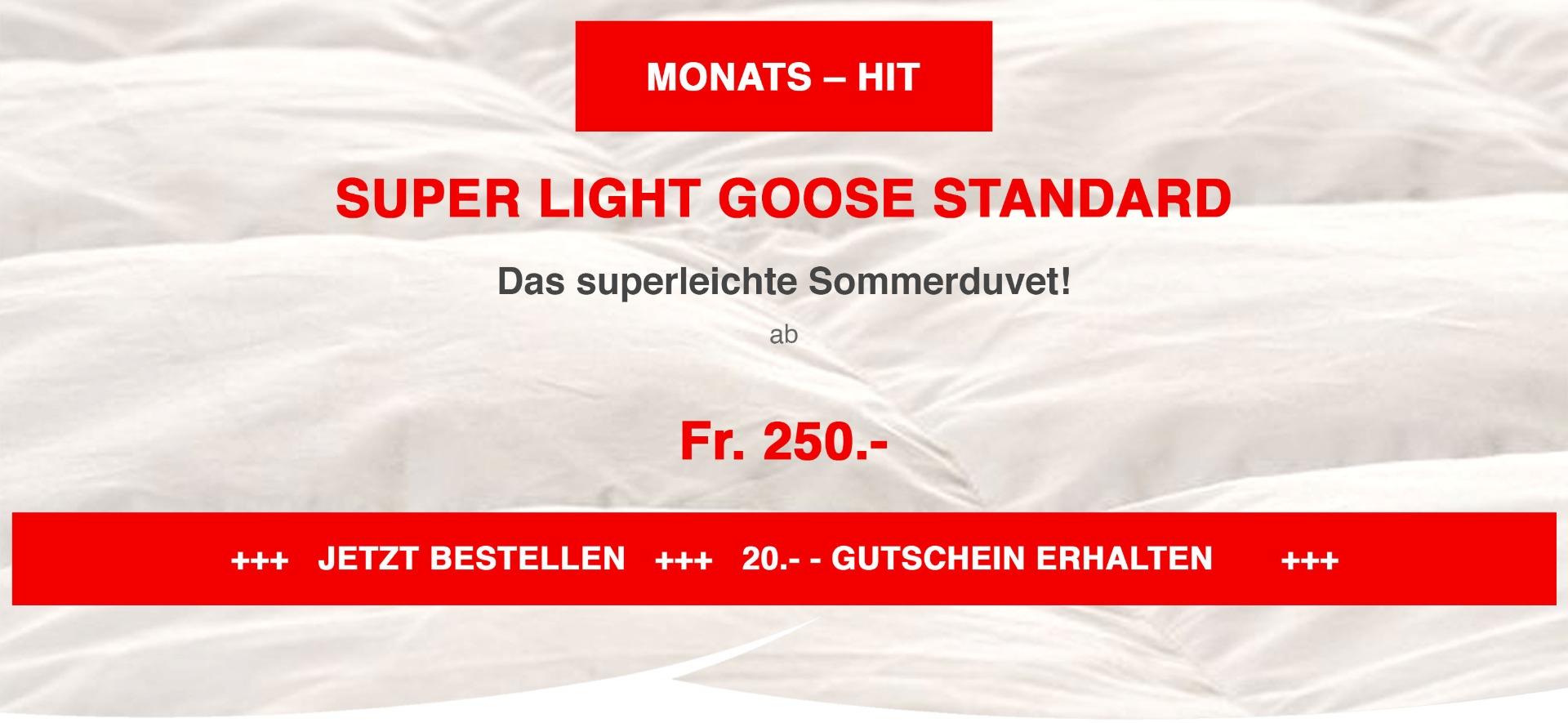 super light goose standard